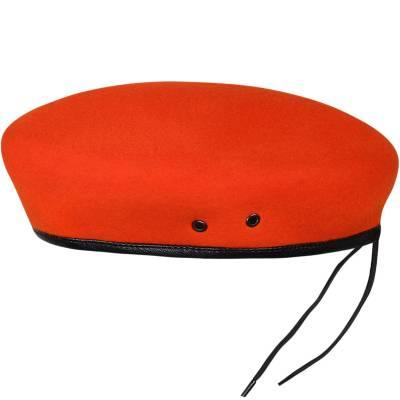 Берет фетровый бесшовный оранжевый