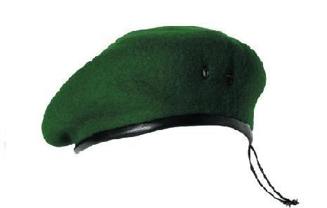 берет фетровый бесшовный зеленый