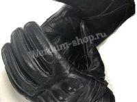 Перчатки тактические кожаные с накладками