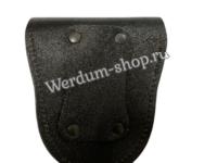Чехол под наручники кожаный неформованный черный